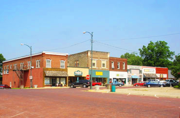 Main Street in Baldwin City Kansas