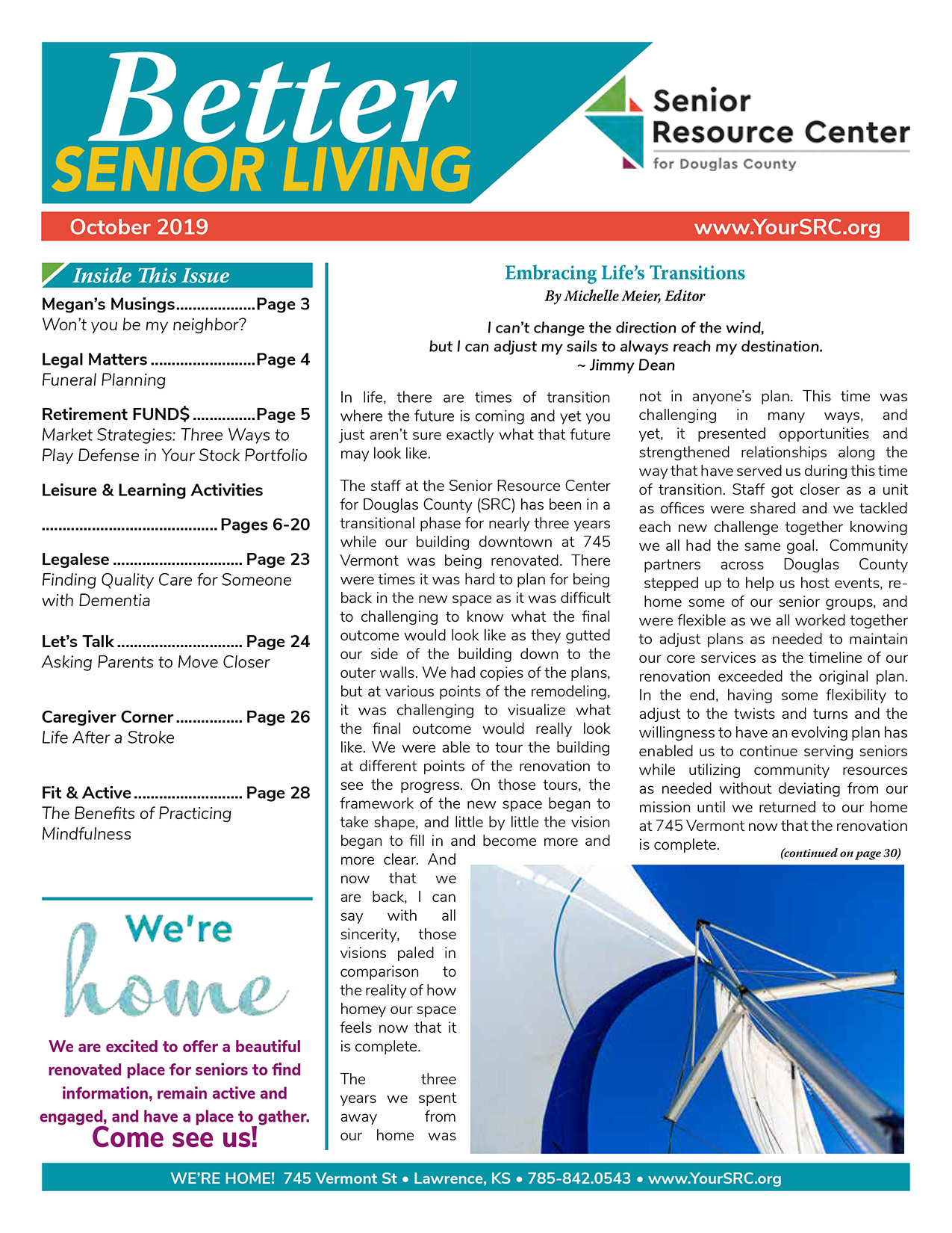 Better Senior Living October 2019 Issue